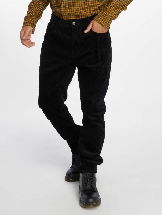 Sweet SKTBS Manšestrové kalhoty Straight Leg Corduroy čern