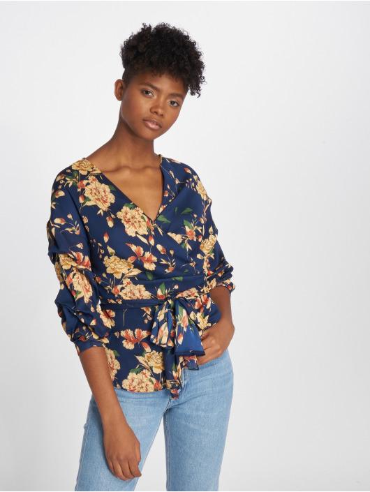 Sweewe Bluse Floral blau