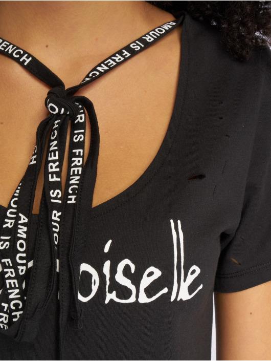 Sweewe T-Shirt Mademoiselle schwarz