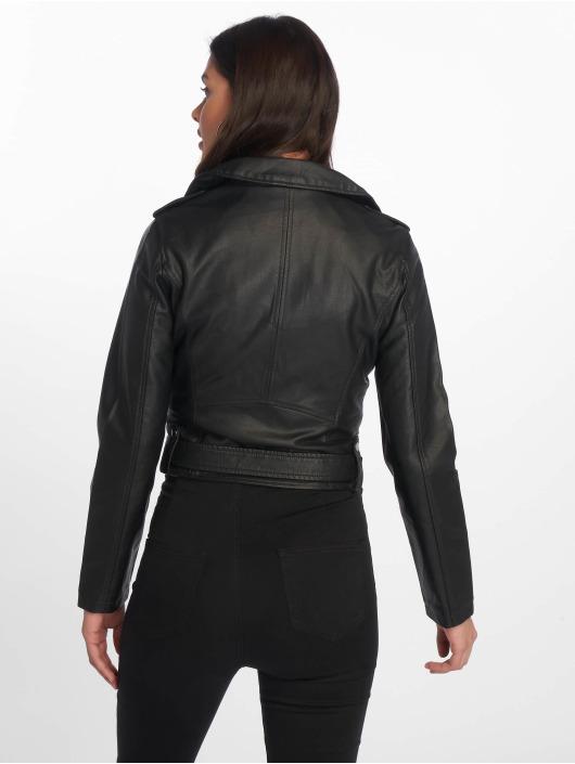 Tally Weijl Демисезонная куртка PU Biker черный