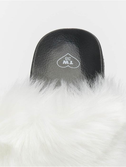 Tally Weijl Badesko/sandaler Fur Upper hvit