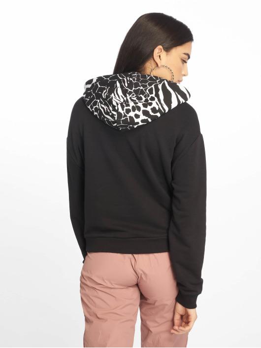 Tally Weijl Bluzy z kapturem Knit Women czarny