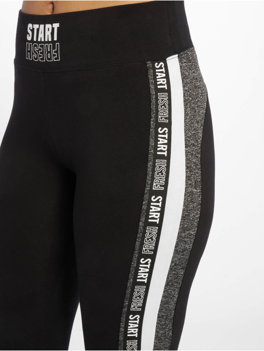 Tally Weijl Leggings Knit Print Fancy svart