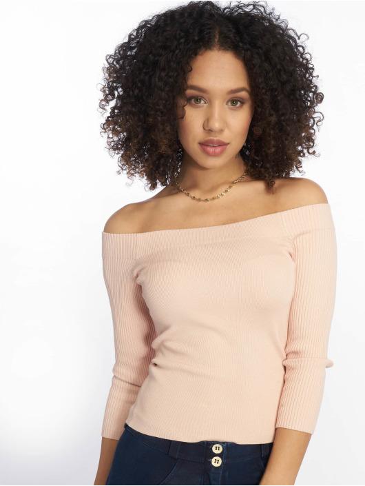 Tally Weijl Maglietta a manica lunga Knit Rib Bardot rosa chiaro