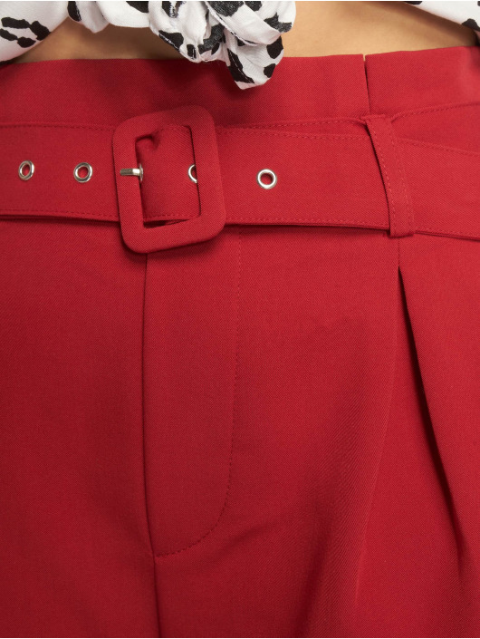 Tally Weijl Pantalón cortos Buckle rojo