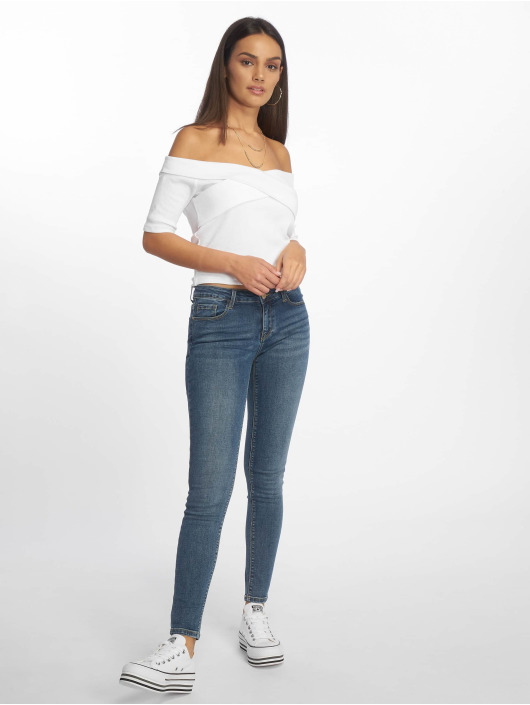 Tally Weijl Skinny Jeans Low Waist niebieski