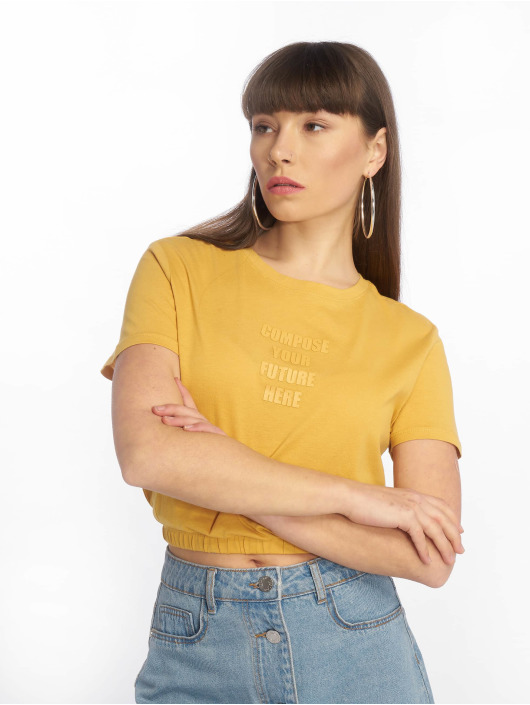 Tally Weijl t-shirt Knitted geel