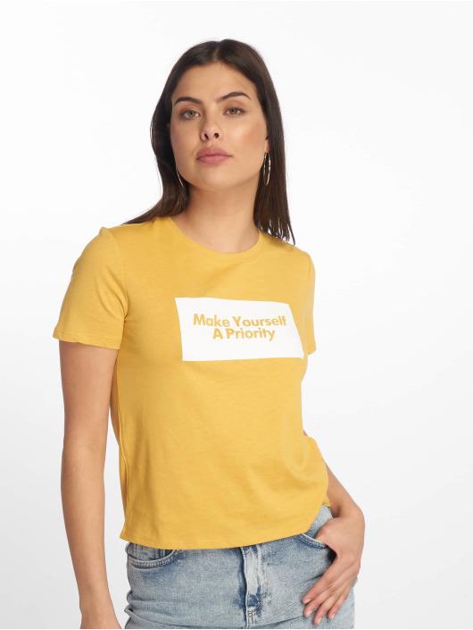 Tally Weijl t-shirt Knitted geel