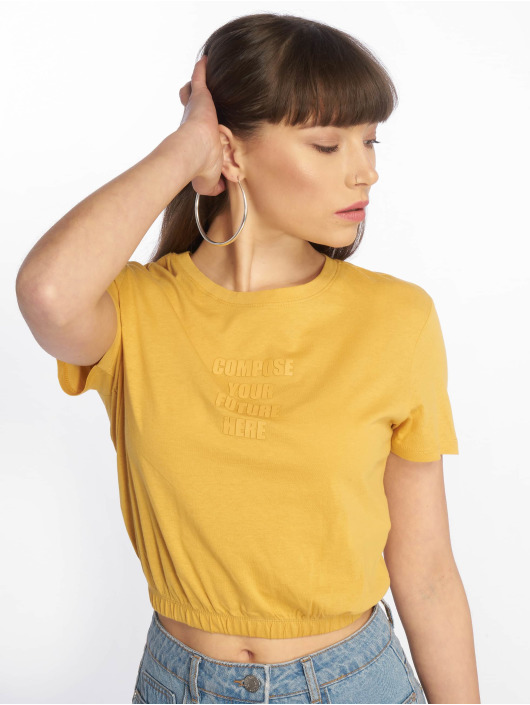 Tally Weijl T-shirt Knitted giallo