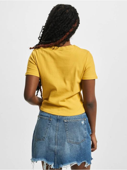 Tally Weijl T-shirt Basic Knitted gul