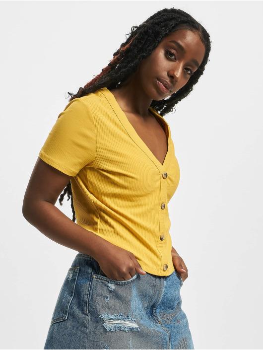 Tally Weijl T-Shirt Basic Knitted jaune