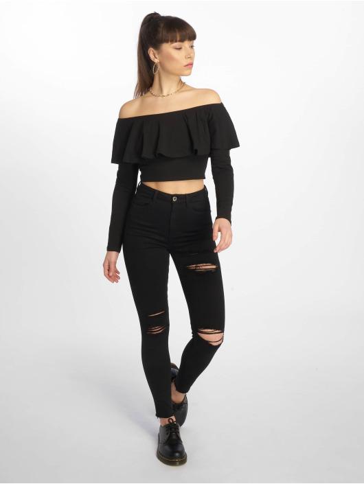 Tally Weijl T-Shirt manches longues Basic Knitted noir