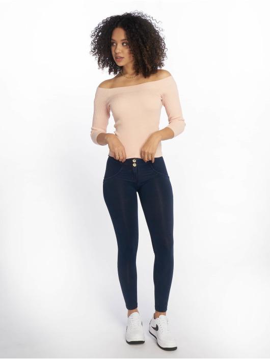 Tally Weijl T-Shirt manches longues Knit Rib Bardot rose