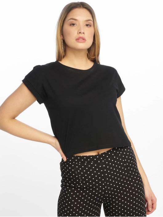 Tally Weijl T-Shirt Basic Knitted noir