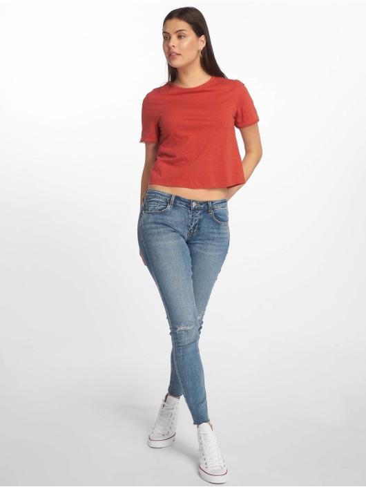 Tally Weijl T-shirt Back Laced röd