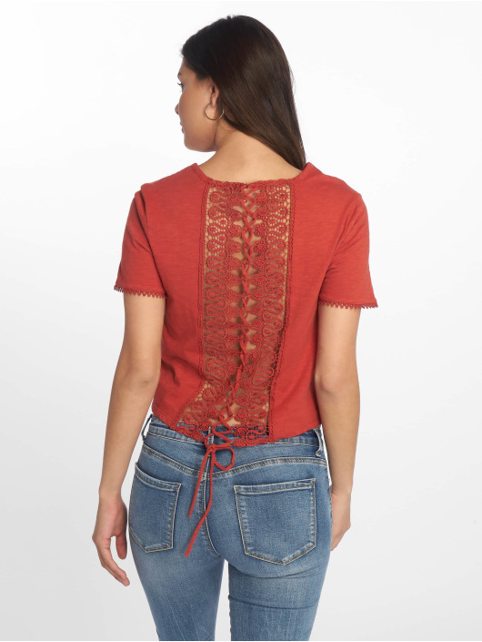 Tally Weijl T-Shirt Back Laced rouge