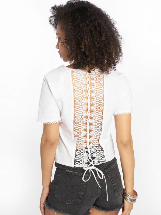 Tally Weijl T-Shirty Back Laced bialy