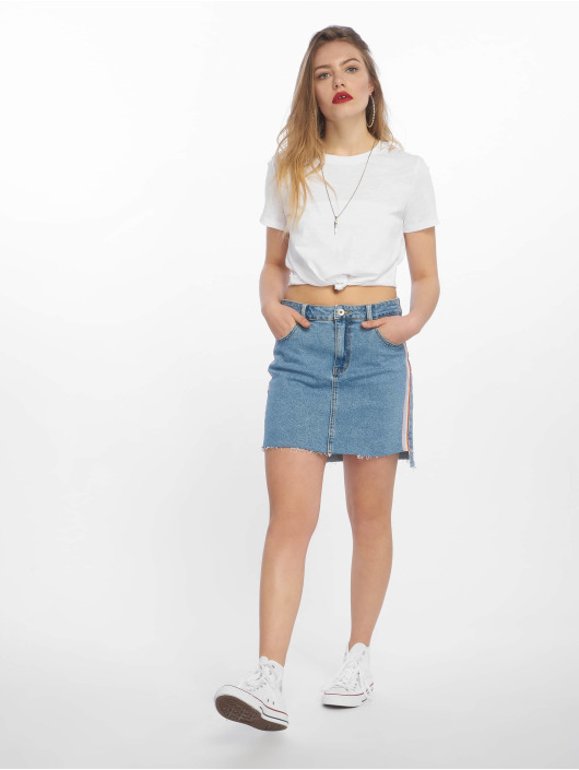 Tally Weijl T-Shirty Basic Knitted bialy