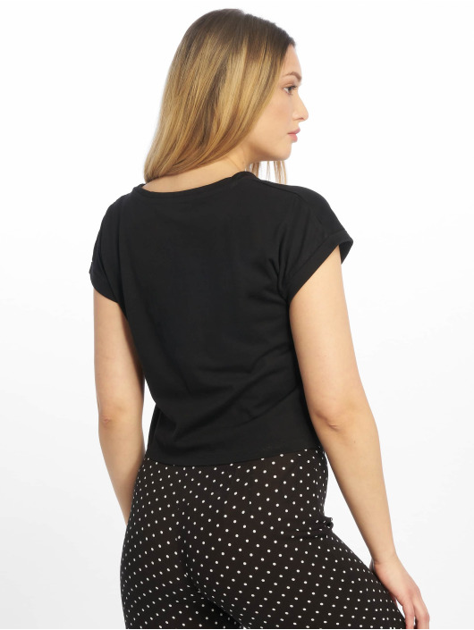 Tally Weijl T-Shirty Basic Knitted czarny