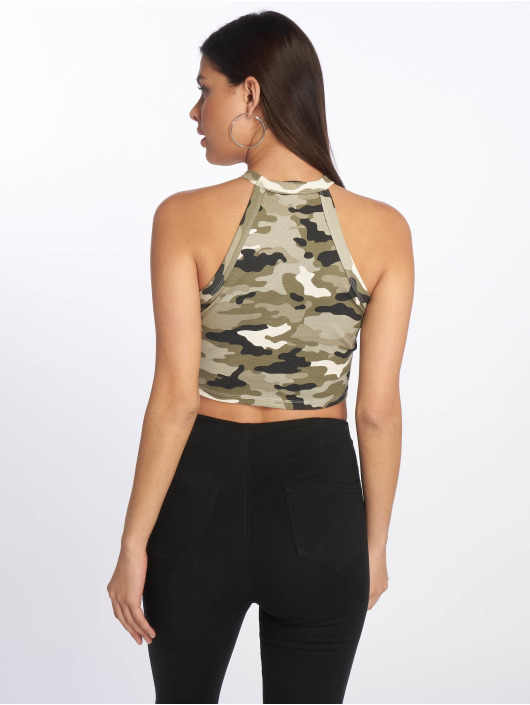 Tally Weijl Top Basic Knitted camuflaje