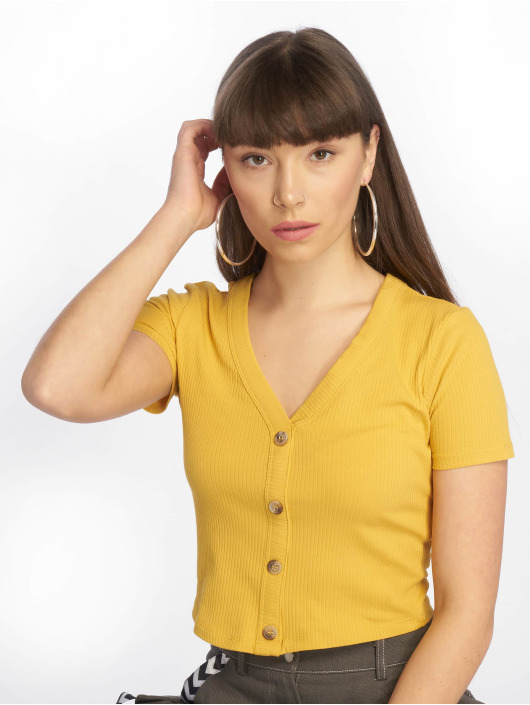 Tally Weijl Basic Knitted Top Honey Golden
