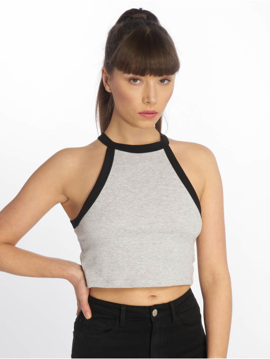 Tally Weijl Top Basic Knitted gray