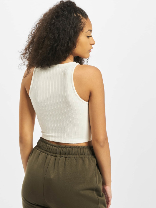 Tally Weijl Tops sans manche Basic Knitted blanc