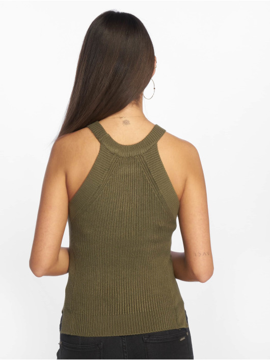 Tally Weijl Tops sans manche Knit Pullover olive