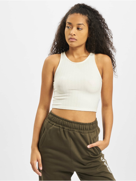 Tally Weijl Tops Basic Knitted bialy