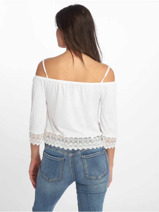 Tally Weijl Topy Crochet Trim Bambula bílý