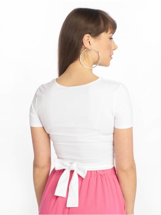 Tally Weijl Tričká Lace Up Knitted biela