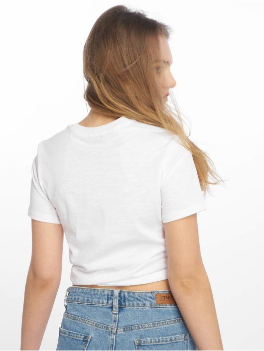 Tally Weijl Tričká Basic Knitted biela