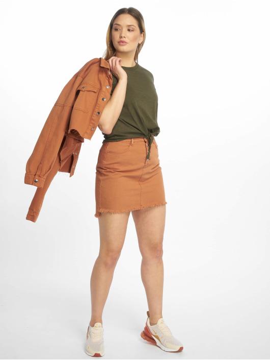 Tally Weijl Tričká Basic Knitted olivová