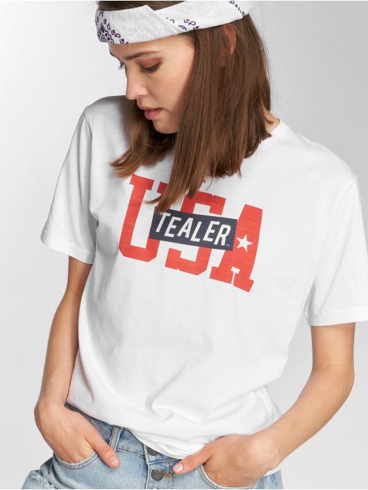 Tealer T-Shirt USA Logo blanc