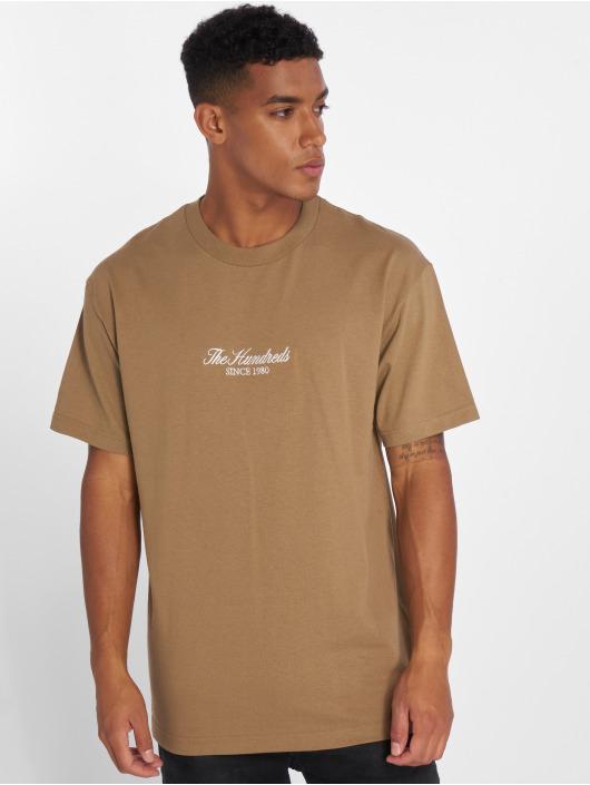 The Hundreds T-Shirt Rich Logo brown