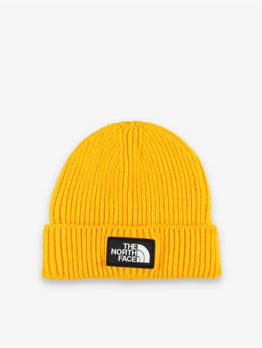 The North Face Beanie Logo Box Cuf yellow