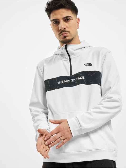 The North Face Hoodie Train N Logo 1/4 white
