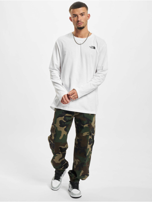 The North Face Longsleeve Face Red Box white