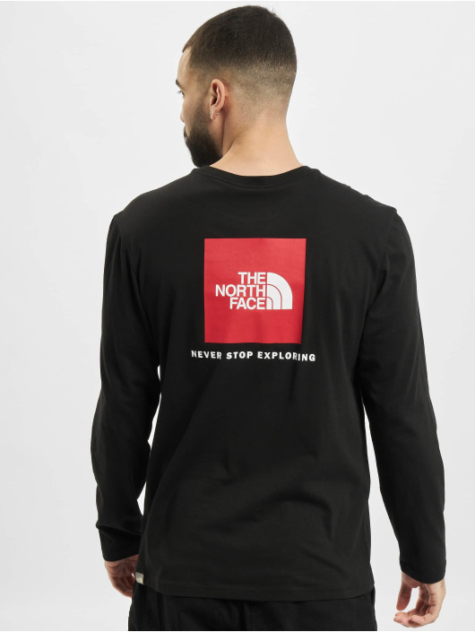 The North Face Longsleeve Red Box zwart