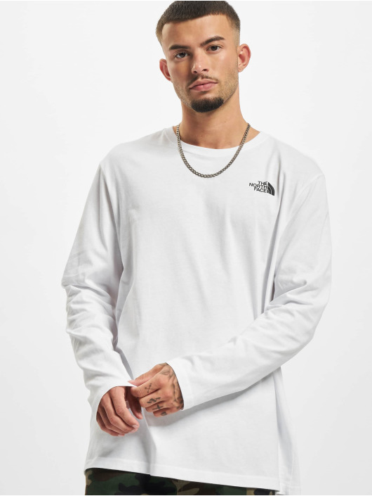 The North Face Longsleeves Face Red Box bílý