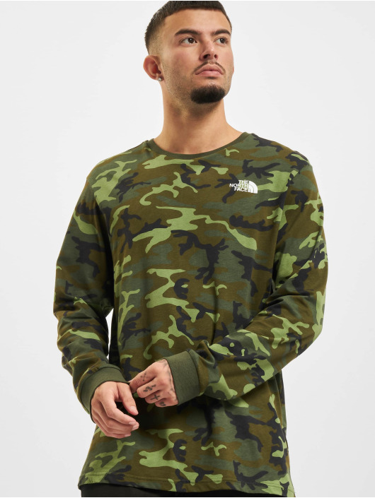 The North Face Longsleeves Simple Dome kamufláž