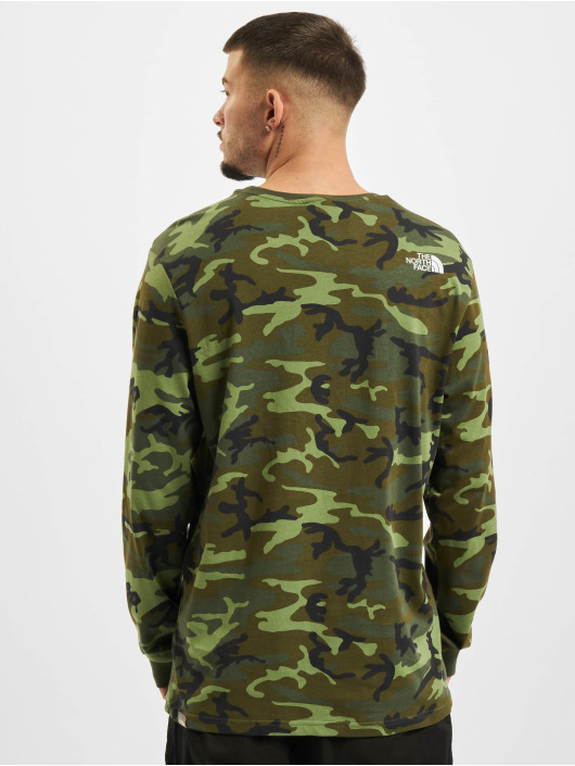 The North Face Pitkähihaiset paidat Simple Dome camouflage