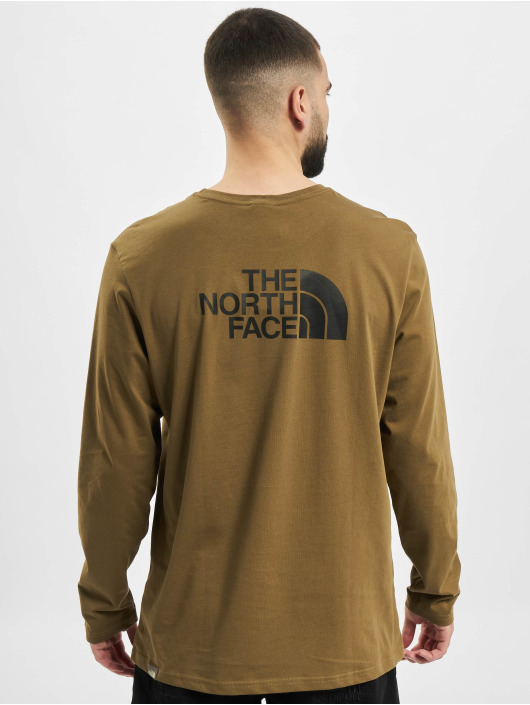 The North Face Pitkähihaiset paidat Face Easy oliivi