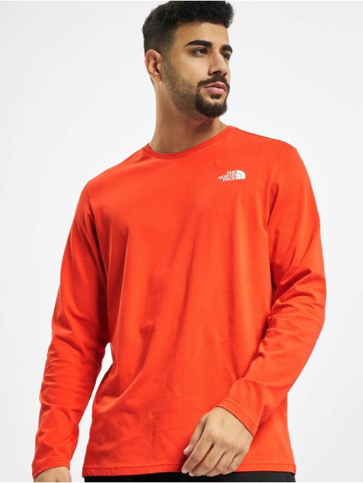 The North Face Pitkähihaiset paidat Easy punainen