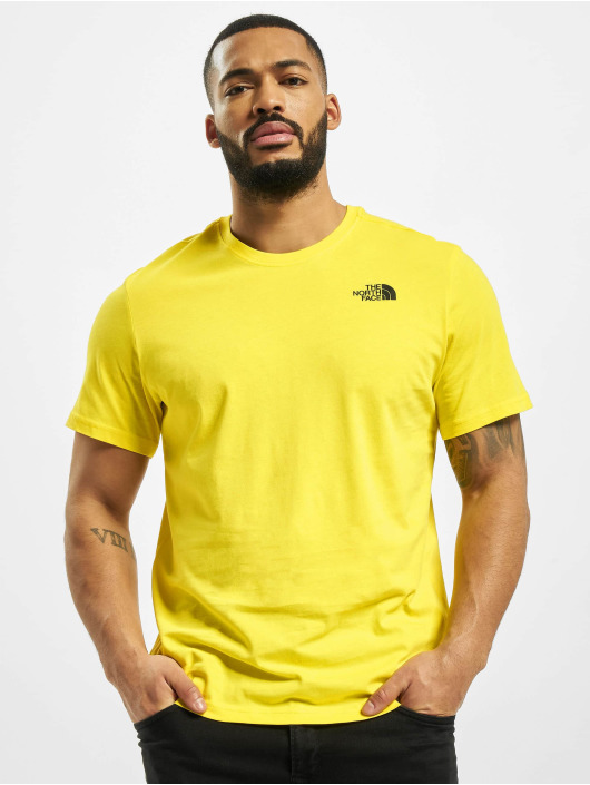 The North Face t-shirt Red Box geel