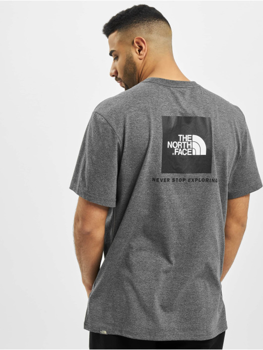 The North Face T-Shirt Face Red Box grey
