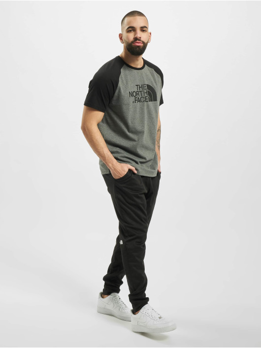 The North Face t-shirt Raglan Easy grijs