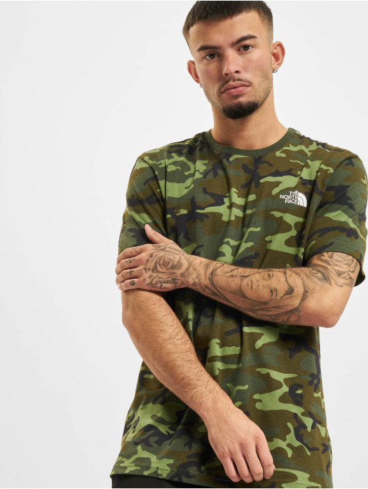 The North Face T-shirts Simple Dome camouflage