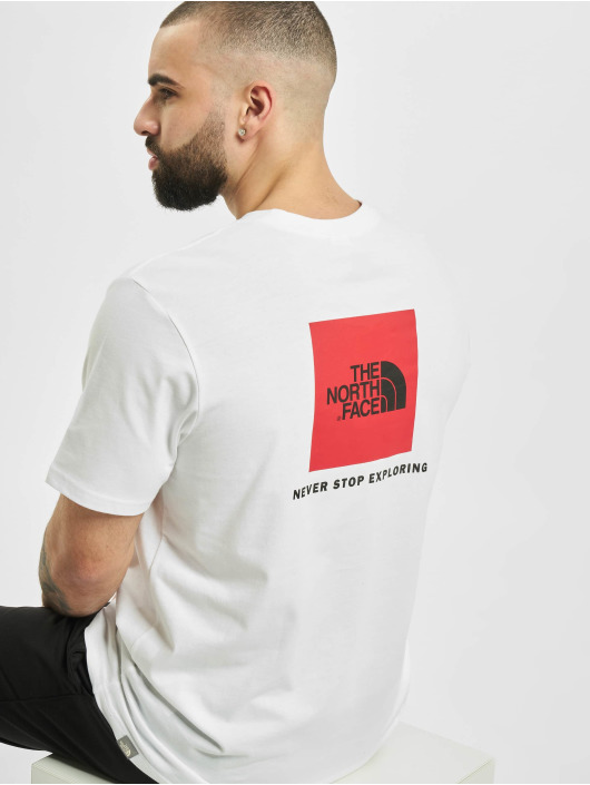 The North Face T-Shirty Red Box bialy