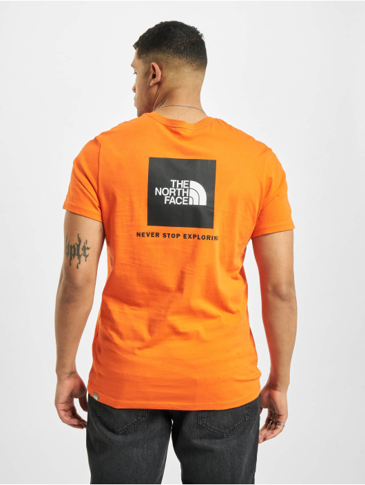The North Face T-Shirty Red Box czerwony